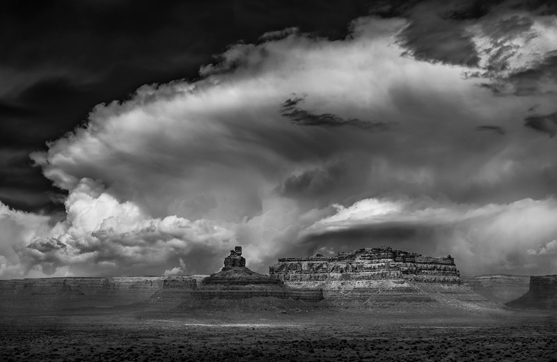 Storm Clouds - Valley of the Gods , Utah