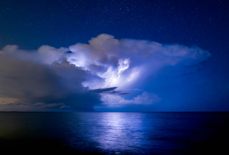 Lightning on Lake Michigan  - Donges Bay, Wisconsin