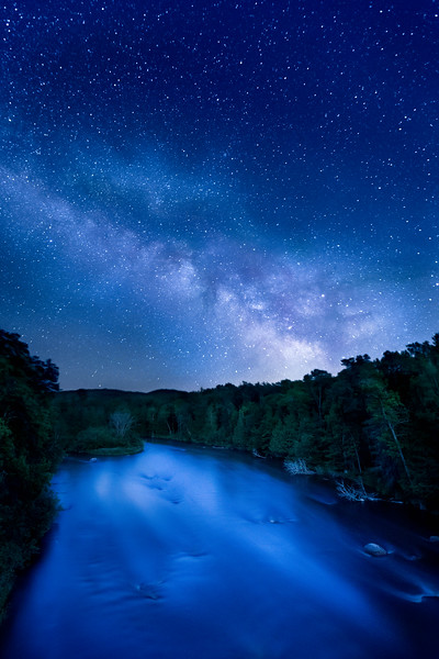Night Sky on the Wolf River - Hollister, Wsiconsin