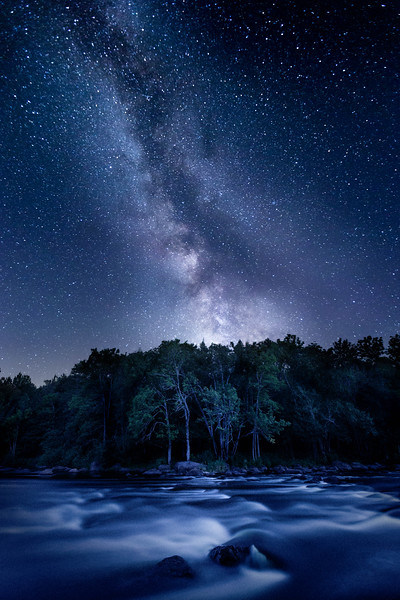 Milky Way Over the Wolf River-