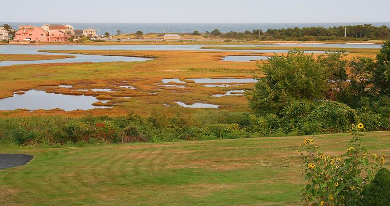 ogunquit salt marshes from motel