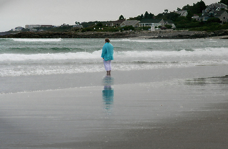 ogunquit woman on beach
