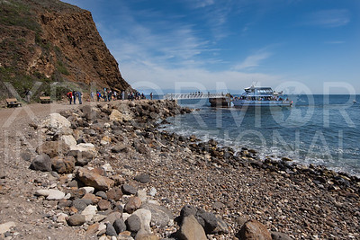 Boat Landing at Scorpion Ranch on Santa Cruz Island