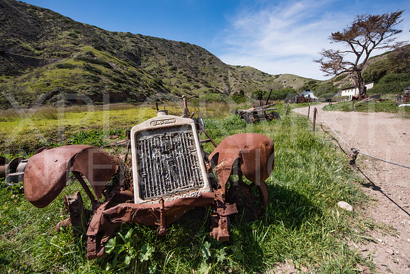 Rusted Farm Equipment Echoes Times Past