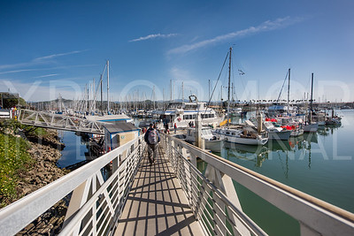 Beautiful Day at the Boat Docks in Ventura Harbor