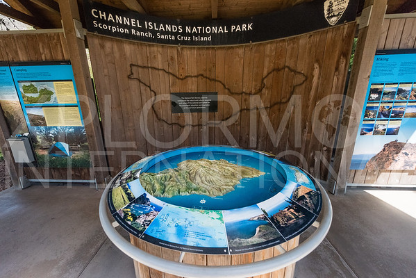 Santa Cruz Island Topographical Map