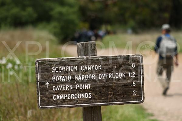 Trail Sign on Santa Cruz Island