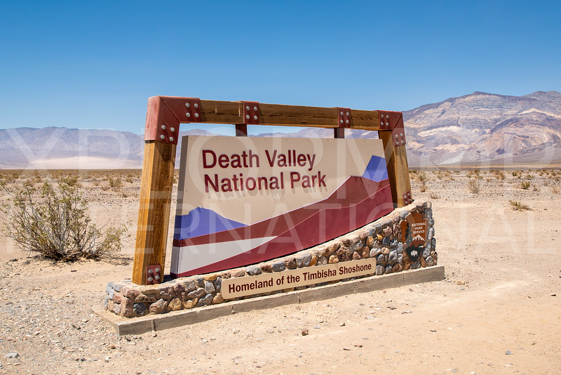 Death Valley National Park Entrance Sign