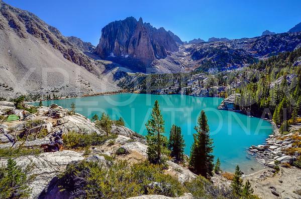 Camping at Second Lake