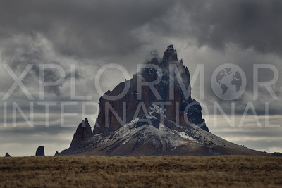 Cold Misty Day at Shiprock