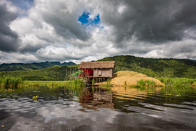 Thatched Hut on Stilts