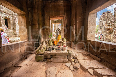 Decorated Altar at Bayon Temple