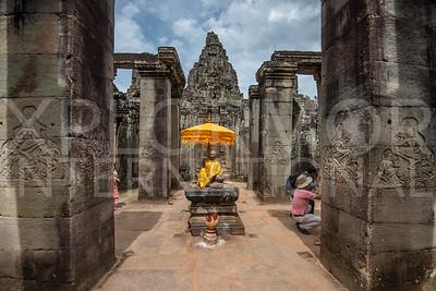 Buddha Statue at Bayon Temple