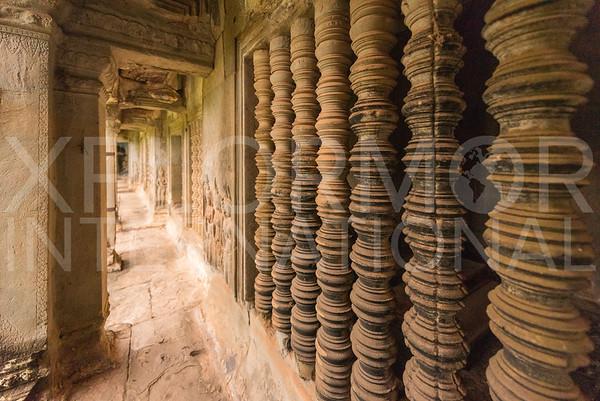 Carved Stone Spindles at Angkor Wat