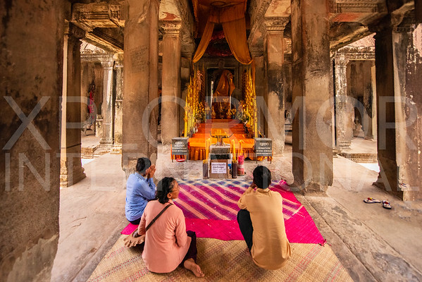 Prayer Offerings at Angkor Wat