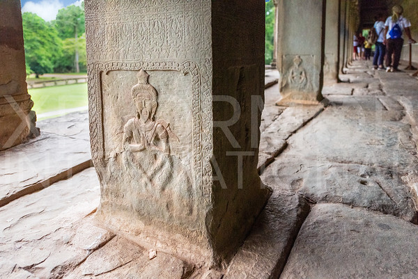 Carved Vishnu at Angkor Wat