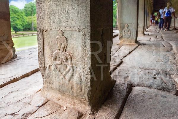 Carved Vishnu at Angkor Wat