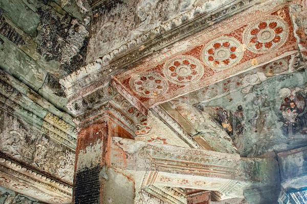 Painted Rosettes at Angkor Wat