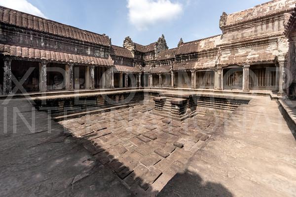 Dry Reservoir at Angkor Wat