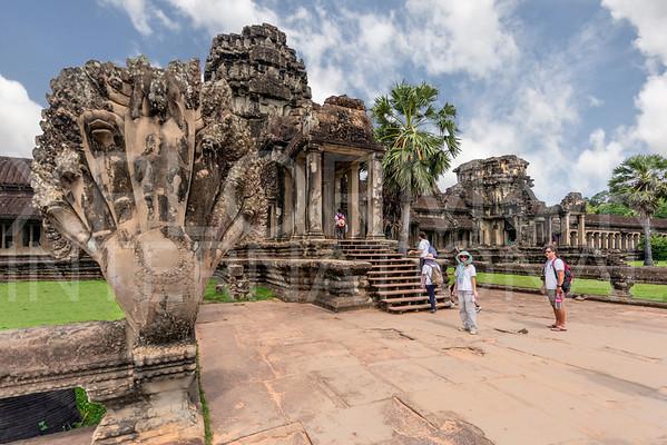 Naga Balustrade at Angkor Wat