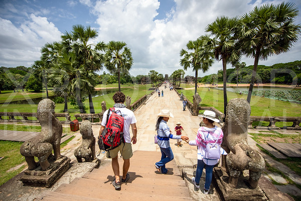 Sandstone Causeway at Angkor Wat