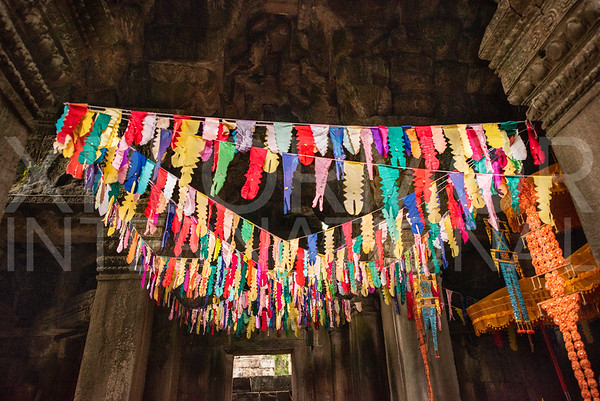 Prayer Flags at Banteay Kdei