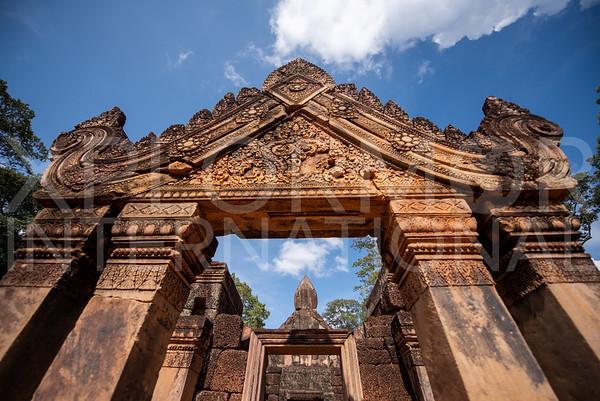Pediment at Banteay Srei