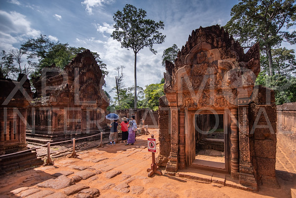 Shrines at Banteay Srei