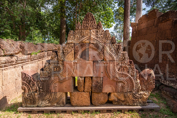 Pediment at Banteay Srei