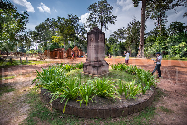 World Heritage Marker at Banteay Srei