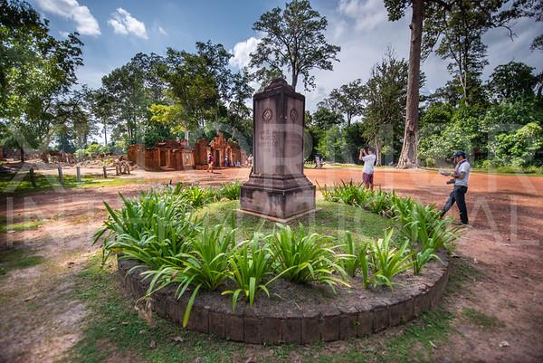 World Heritage Marker at Banteay Srei