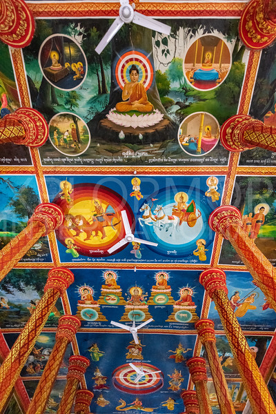 Colorful Murals at Lolei Monastery