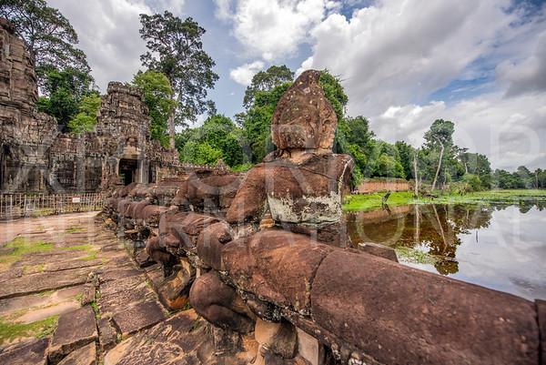 Mythological Giants at Preah Khan Temple
