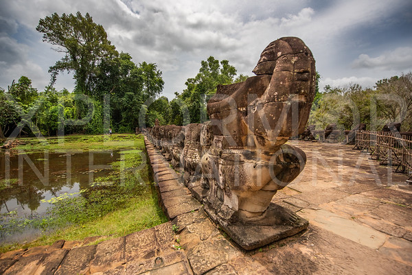 Mythological Giants at Preah Khan Temple