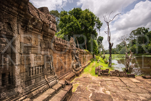 Laterite Enclosure Wall at Preah Khan Temple