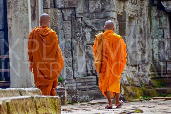 Buddist Monks at Ta Prohm Temple