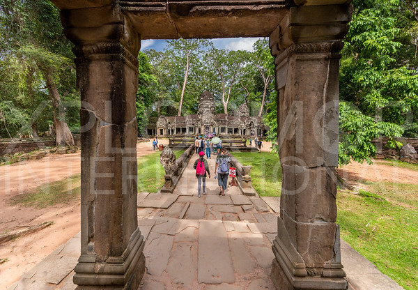 Western Walkway to the Central Tower at Ta Prohm Temple