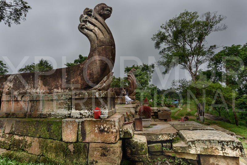 Naga Gaurds, North Entrance, Gopura V, Preah Vihear, Cambodia