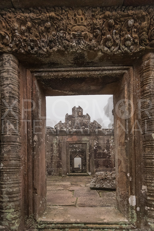 Center of Gopura IV, Preah Vihear, Cambodia
