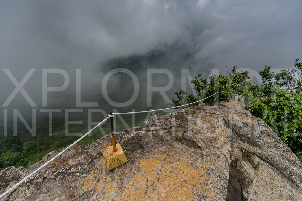 View of Preah Vihear Province from Dangrek Mountains, Cambodia