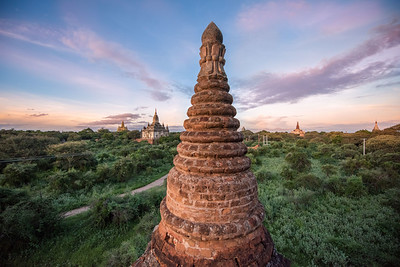 Sunset from Mahazedi Pagoda