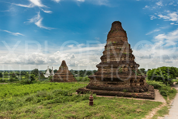 Brick and Painted Stupas at Hanlin