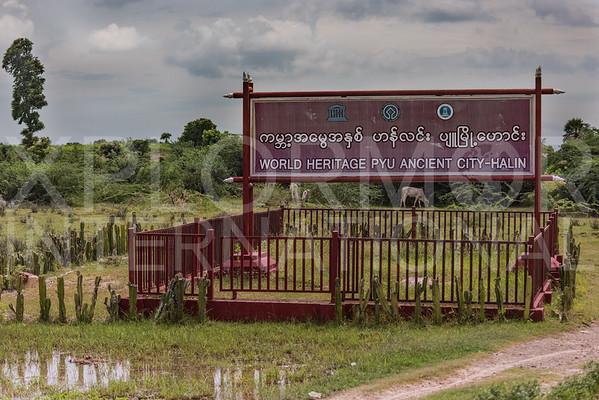 Entrance Sign at Pyu Ancient Cities - Hanlin
