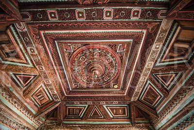 Incredible Burmese Carved Wood Ceiling