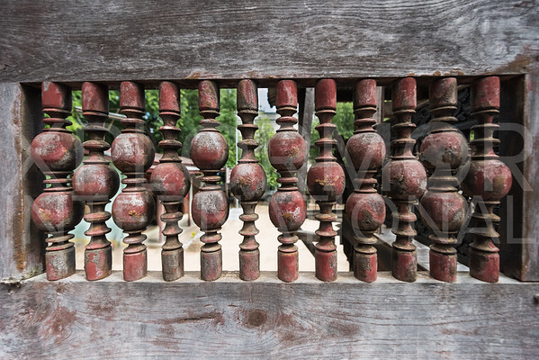 A Row of Burmese Wooden Spindles
