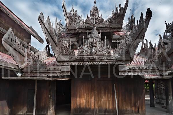 Amazing Burmese Carved Wood Gables