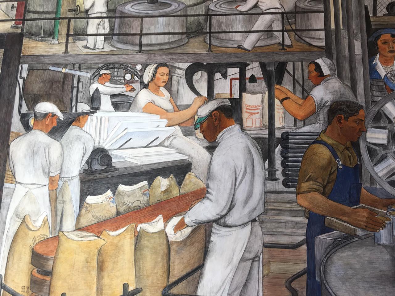 Amazing murals in Coit Tower