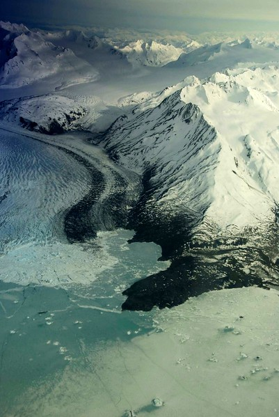 Tidewater glacier in Prince William Sound<br /> Alaska