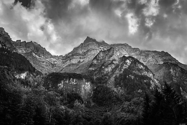 Steep mountain side
