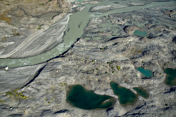 Aerial of the Black Rapids river